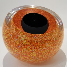 Speckled Double Bubble - Orange and Black