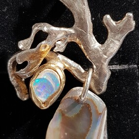 Opal and Paua Pendant
